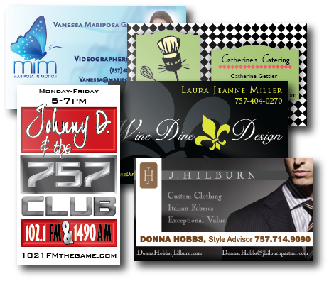 Business cards virginia beach norfolk business card printing high quality professional business cards shipped to your door reheart Choice Image