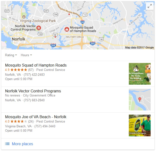 local search seo hampton roads