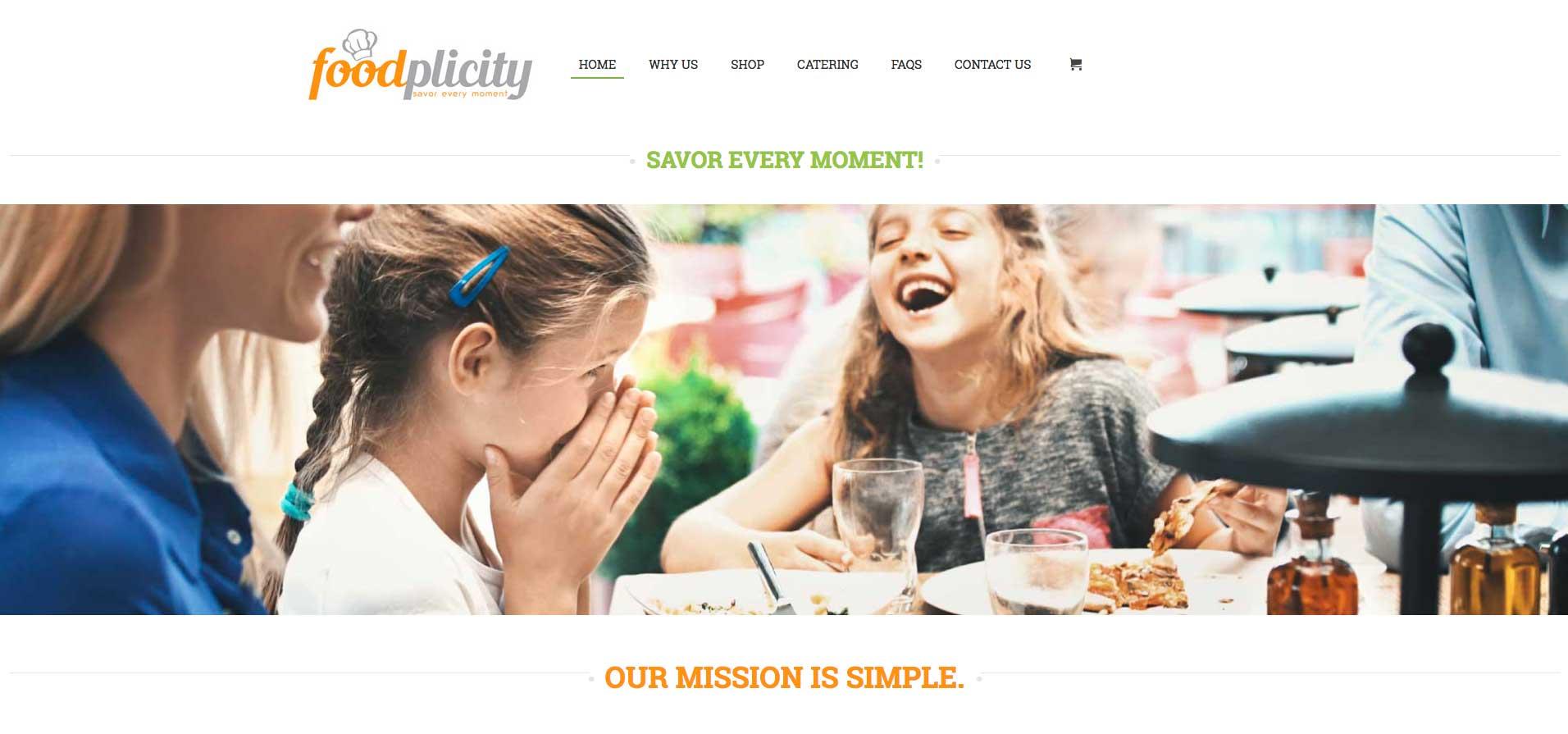 foodplicity website design